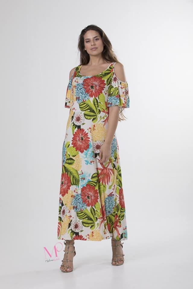 Φόρεμα maxi floral με ακάλυπτους ώμους. - Modernoraptiki 63b0be3123c