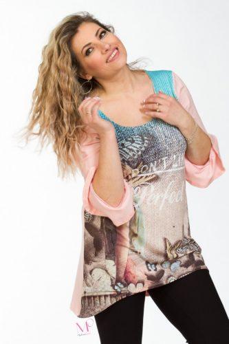 K18-90218 Μπλούζα με ψηφιακή εκτύπωση΄΄ Perfect ΄΄
