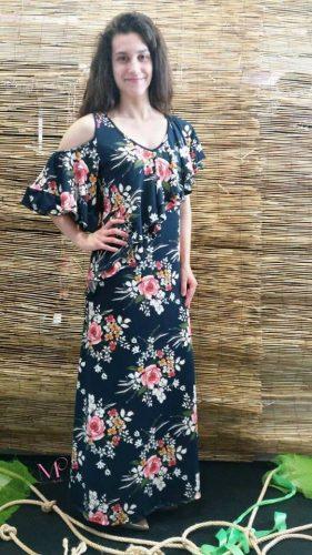 Φόρεμα εμπριμέ maxi από s.jersey ύφασμα. 69217a21b6f