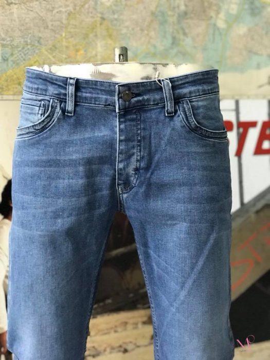 K18-7850 Ανδρικό Jeans Παντελόνι με αμμοβολή