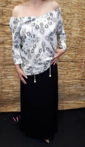 Κ18/70057 Φούστα maxi σε βισκόζ ύφασμα