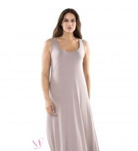K20/20176 Φόρεμα maxi αμάνικο σε άλφα γραμμή