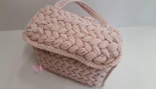 509 Χειροποίητο πλεκτό σακίδιο Back bag