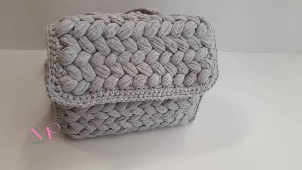 2253f6e5fe Χειροποίητο πλεκτό σακίδιο Back bag - Modernoraptiki