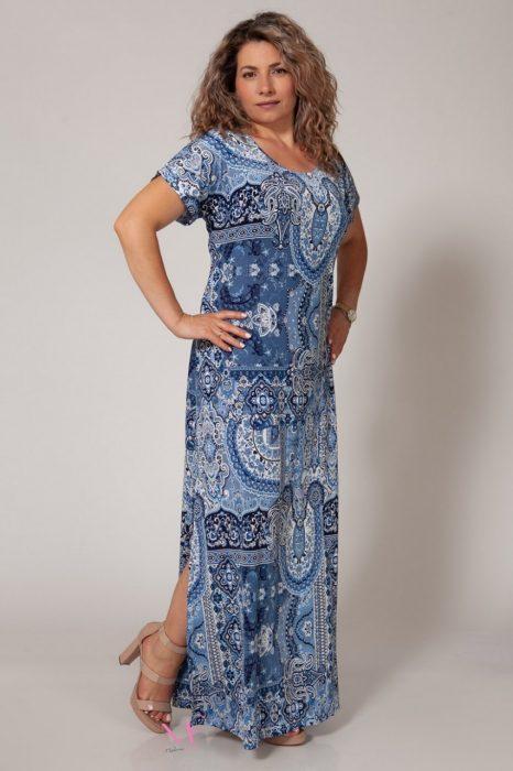 Κ18-641 Φόρεμα μαγιόπανο maxi Λαιμόκοψη.