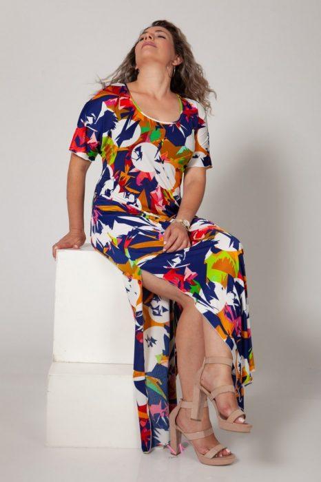 Κ18-651 Φόρεμα μαγιόπανο maxi με