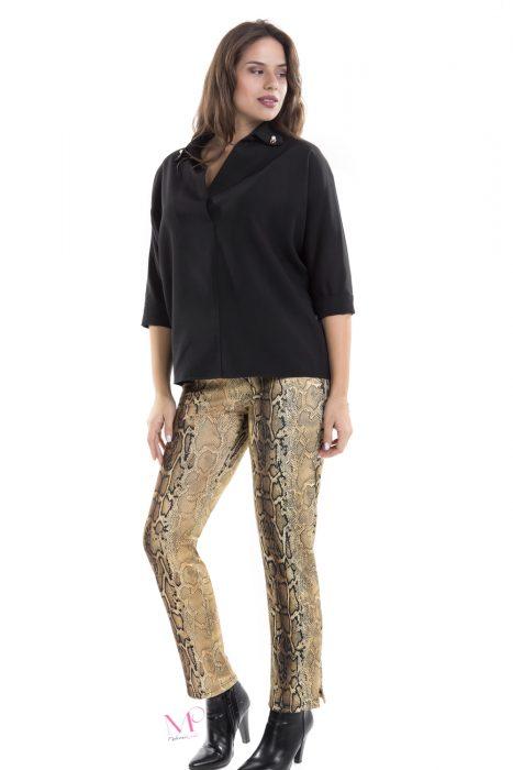 19-80171 Παντελόνι Print/Φίδι από s.jersey ύφασμα με λάστιχο στην μέση.