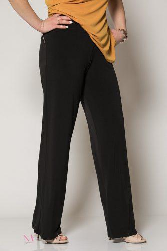 Κ19-80019 Μαύρο Παντελόνα με μπάσκα Μονόχρωμη