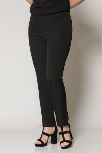 20-80820 Μαύρο Παντελόνι με λάστιχο Μαίανδρος