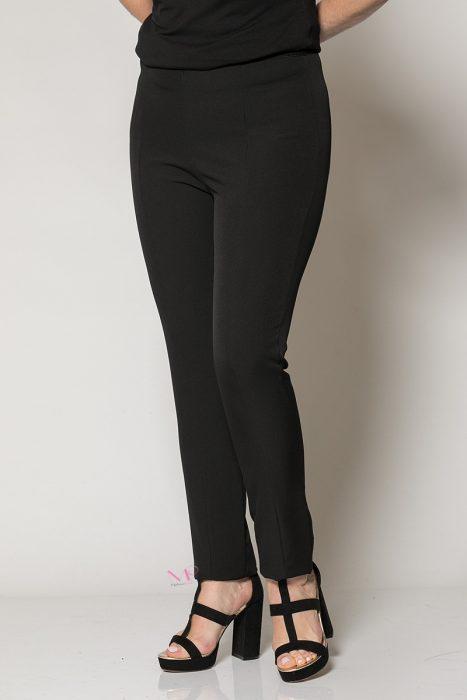 Κ19-80819 Μαύρο Παντελόνι με λάστιχο Μαίανδρος