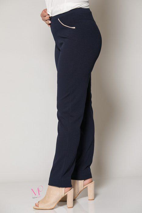 Κ19-81419 Μπλε Παντελόνι με διακοσμητικά φιτίλια στα τσεπάκια