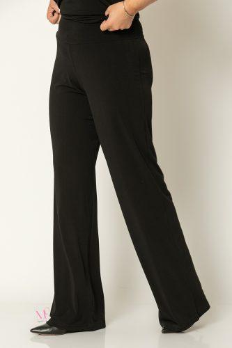 20-80020 Μαύρο Παντελόνα με μπάσκα Μονόχρωμη