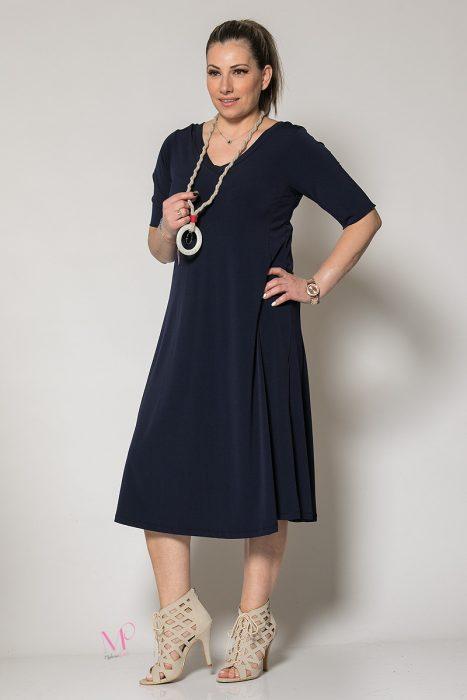 Κ19-60019 Μπλε Φόρεμα με κολιέ