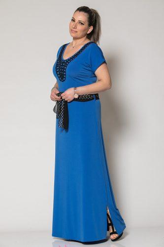 Κ19-61019 Φόρεμα maxi με μοτιφ