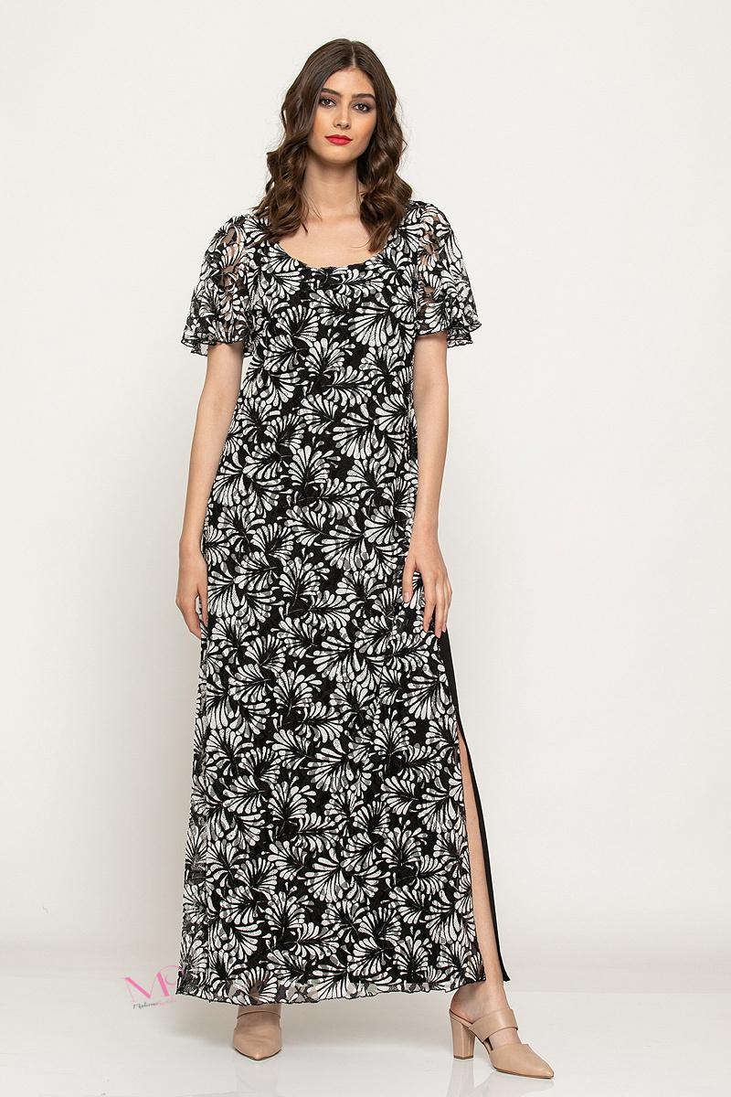 307cef03de7 Φόρεμα maxi δαντέλα κοντά μανίκια - Modernoraptiki
