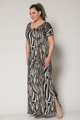 Κ19-60519 Ζέβρα Φόρεμα maxi