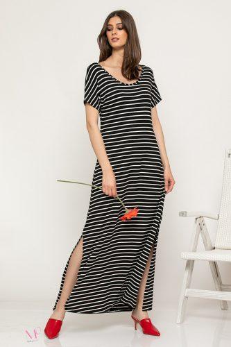 Κ19/61519 Φόρεμα maxi ριγέ