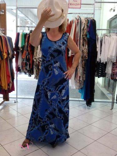 Κ19-65319 Φόρεμα maxi εμπριμέ ΄΄Ζώνες΄΄