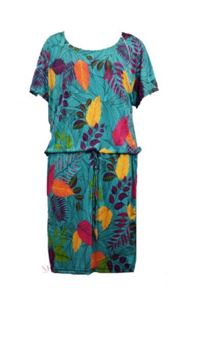 Κ19-20218 Μέντα Φόρεμα midi floral μαγιόπανο