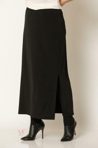 20-30620 Μαύρο Φούστα ίσια super jersey μονόχρωμη