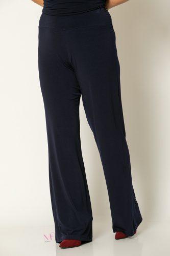 20-80020 Μπλε Παντελόνα με μπάσκα Μονόχρωμη
