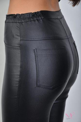 20-80090 Παντελόνι 5τσέπο δερματίνη ελαστικό με λάστιχο στα πλαϊνά.