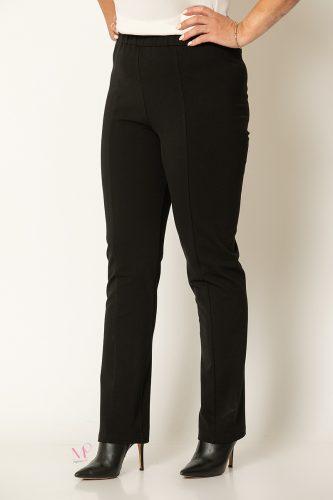 20-81120 Μαύρο Παντελόνι ίσιο με Νερβιρ