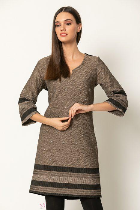 20-60120 Φόρεμα midi μπορντούρες