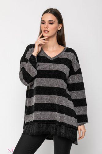 20-98620 Μπλούζα πλεκτή με ρίγες