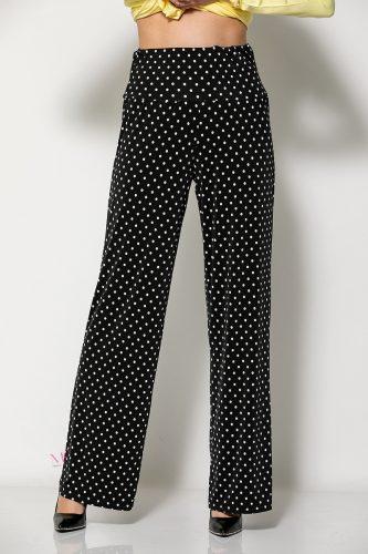 Κ20-81020 Παντελόνα πουά με μπάσκα μαύρο